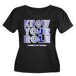 KYR Women's Plus Size Scoop Neck Dark T-Shirt