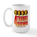4 Thumbs Down Large Mug