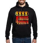 4 Thumbs Down Hoodie (dark)