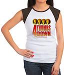 4 Thumbs Down Women's Cap Sleeve T-Shirt