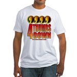 4 Thumbs Down Fitted T-Shirt