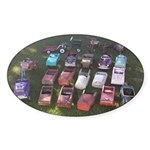 Pedal Cars Sticker (Oval)