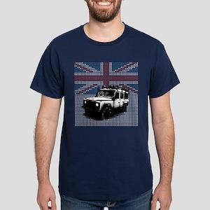 Union Jack Land Rover Defender Dark T-Shirt