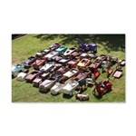 Vintage Pedal Cars 20x12 Wall Decal