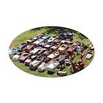 Vintage Pedal Cars Oval Car Magnet