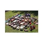 Vintage Pedal Cars Rectangle Magnet