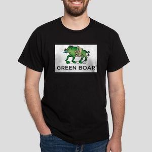 Green Boar Organic Tea Logo Dark T-Shirt