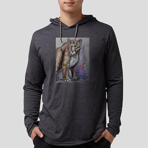 Mountain lion! Wildlife art! Mens Hooded Shirt