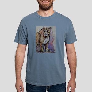 Mountain lion! Wildlife art! Mens Comfort Colors S