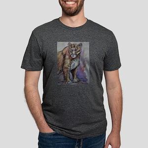 Mountain lion! Wildlife art! Mens Tri-blend T-Shir