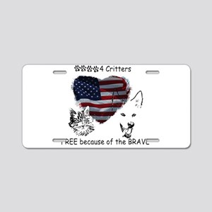 Paws4Critters Free Because of the Brave Aluminum L