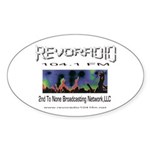Revoradio 104.1 Fm Sticker (Oval)