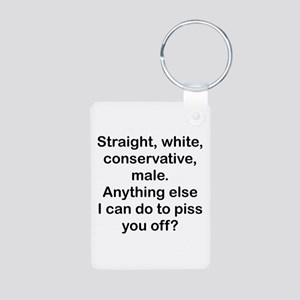 Straight, White...(BL) Keychains