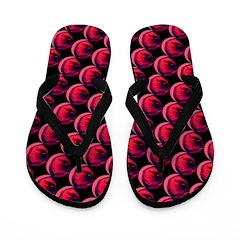 Red Black OMG Abstract Flip Flops