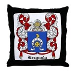 Krzywda Coat of Arms Throw Pillow