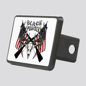 Black powder buck Rectangular Hitch Cover