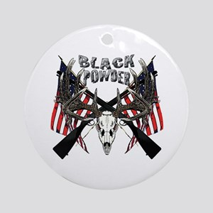 Black powder buck Ornament (Round)