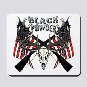 Black powder buck Mousepad
