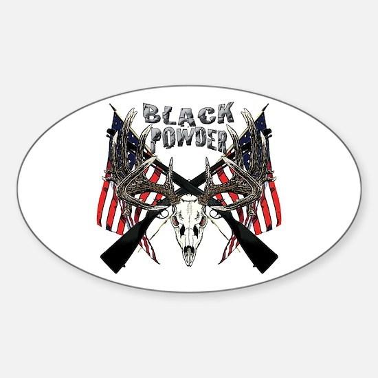 Black powder buck Sticker (Oval)