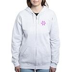 Pink Ribbons Breast Cancer Pugilist Women's Zip Ho
