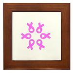 Pink Ribbons Breast Cancer Pugilist Framed Tile