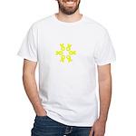 Bladder Cancer Yellow Ribbon White T-Shirt