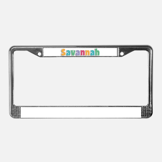 Savannah License Plate Frame
