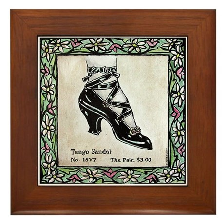 Vintage Shoe Framed Tile