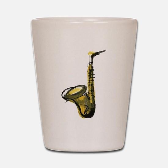 saxophone Shot Glass