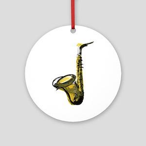 saxophone Ornament (Round)