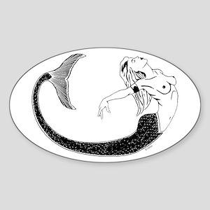 Mermaid Oval Sticker