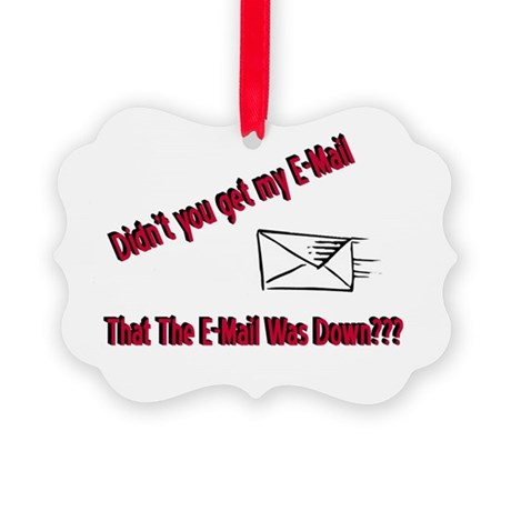 Email is Down Picture Ornament