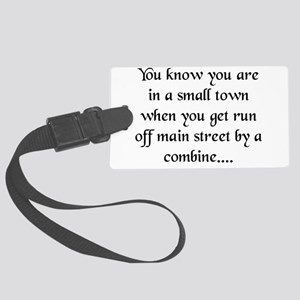 smalltown Large Luggage Tag