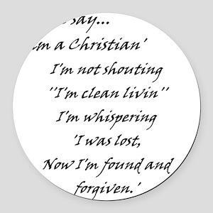 foundNforgiven Round Car Magnet