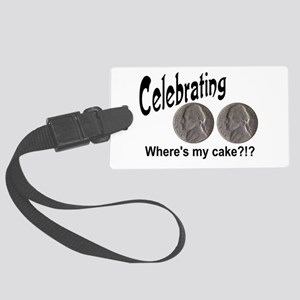 55 Cake?!?!? Large Luggage Tag