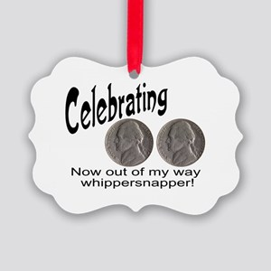 55 Birthday Whippersnapper Picture Ornament