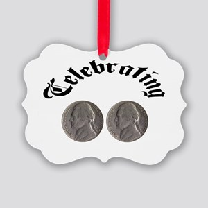 Celebrating the Double Nickle Picture Ornament
