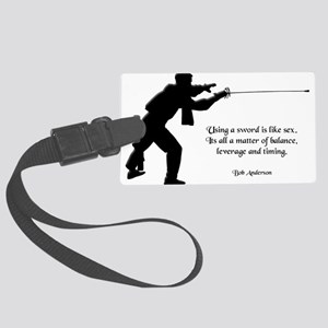 fencingsex Large Luggage Tag