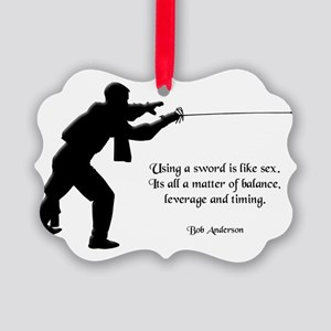fencingsex Picture Ornament