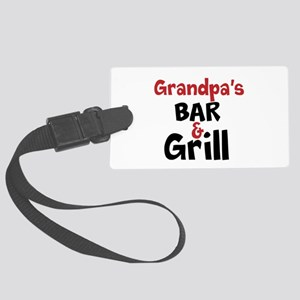 Personalized Bar and Grill Large Luggage Tag