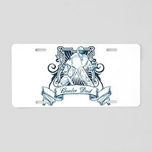 Goalie Dad Aluminum License Plate