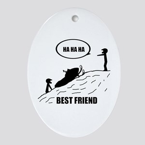 Best Friend Ornament (Oval)