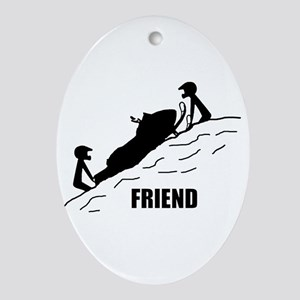 Friend Ornament (Oval)