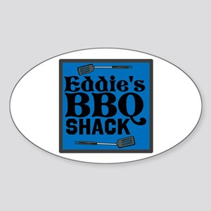 Personalized BBQ Sticker (Oval)