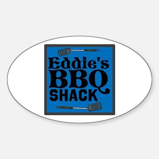 Personalized BBQ Sticker (Oval)