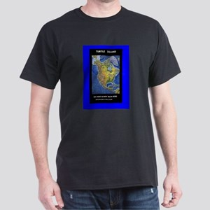 United Nations of Turtle Isla Black T-Shirt