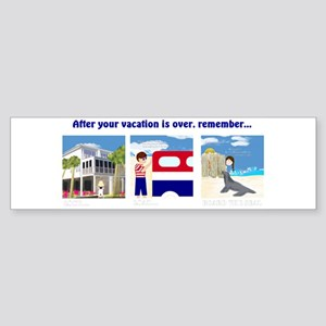 American Vacation Bumper Sticker