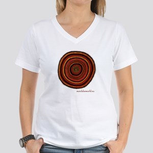 Aboriginal Mandala n3 Women's V-Neck T-Shirt