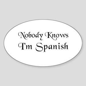 The Spanish Oval Sticker
