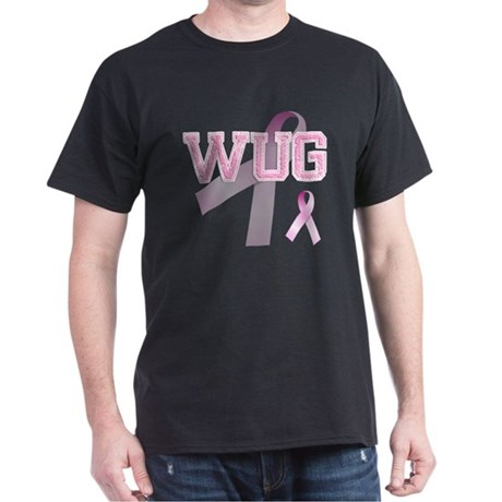 WUG initials, Pink Ribbon, Dark T-Shirt